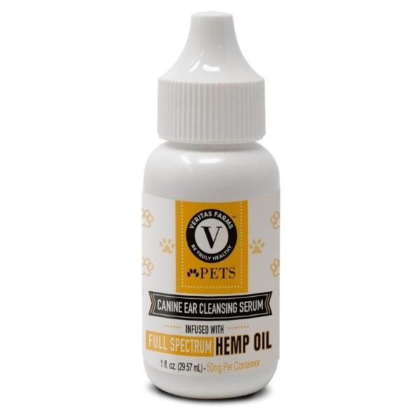 pets full spectrum hemp oil canine ear cleansing serum 50mg